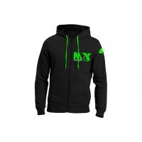 Hooded Sweatshirt black 100% cotton - MG04465